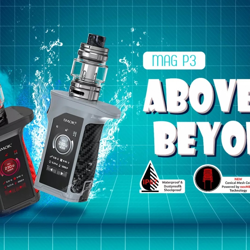 NEW @ BKS!! SMOK Mag P3 Kit | Dope & Clean | Pukka Berry Blaze Nic Salt