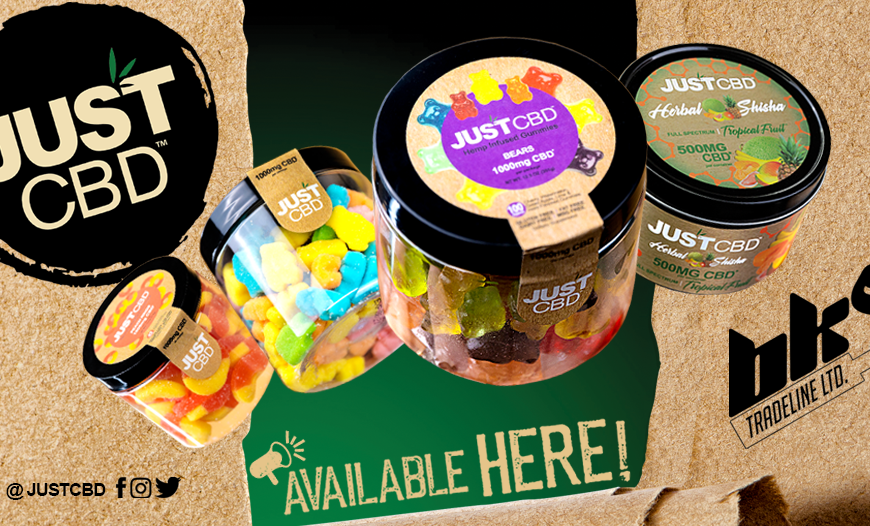 New CBD RANGE!! Just CBD | CBD Infused Gummies & Herbal Shisha - In Stock Now at BKS Tradeline