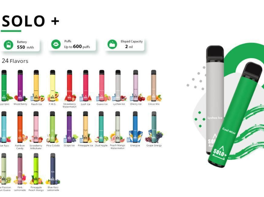 NEW @ BKS!! Vapeman Solo+ Disposable Kits - 24 Flavours at a Great Price!!
