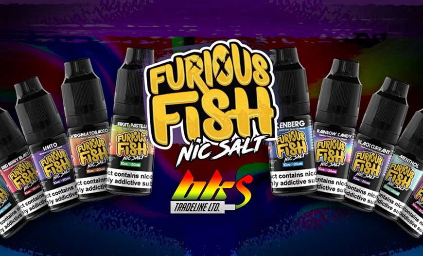 NEW @ BKS!! Furious Fish Nicotine Salts | Expand your Furious Fish collection now!!