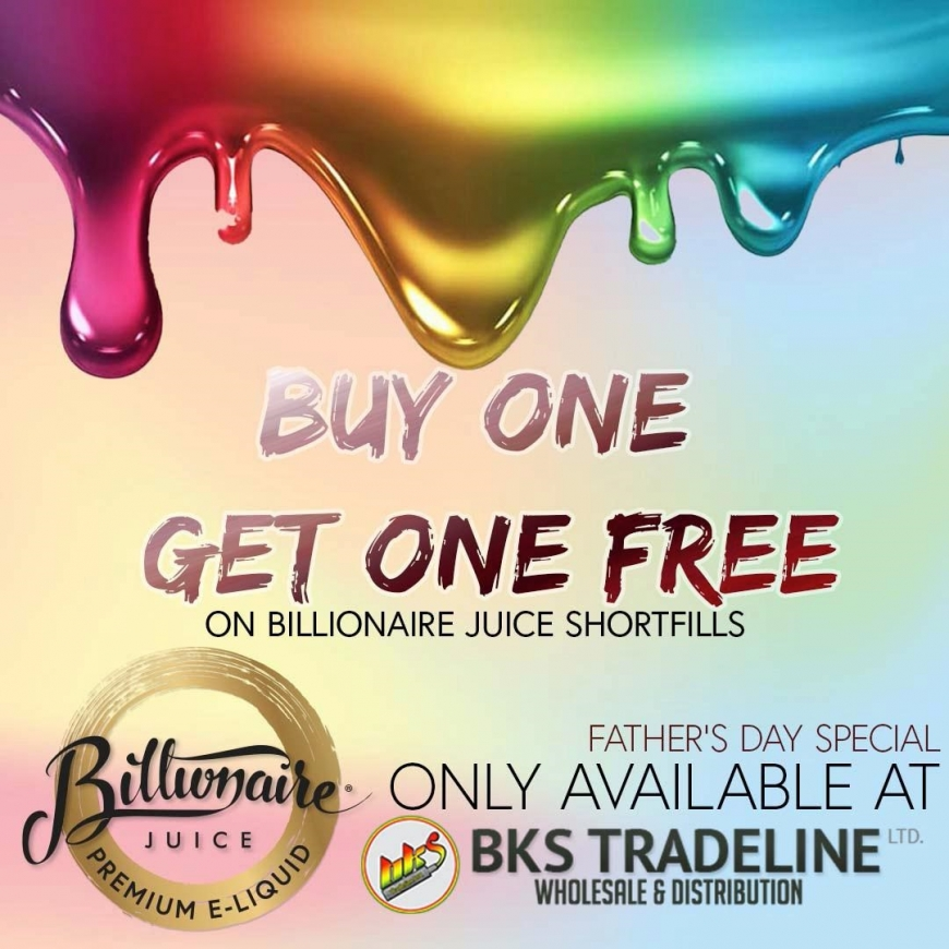 NEW @ BKS | Billionaire Juice Father's Day Offer | Vaperz Cloud HOG XL Mech Mod | Valhalla V2 40mm RDA | ASGARD Mini & More!!