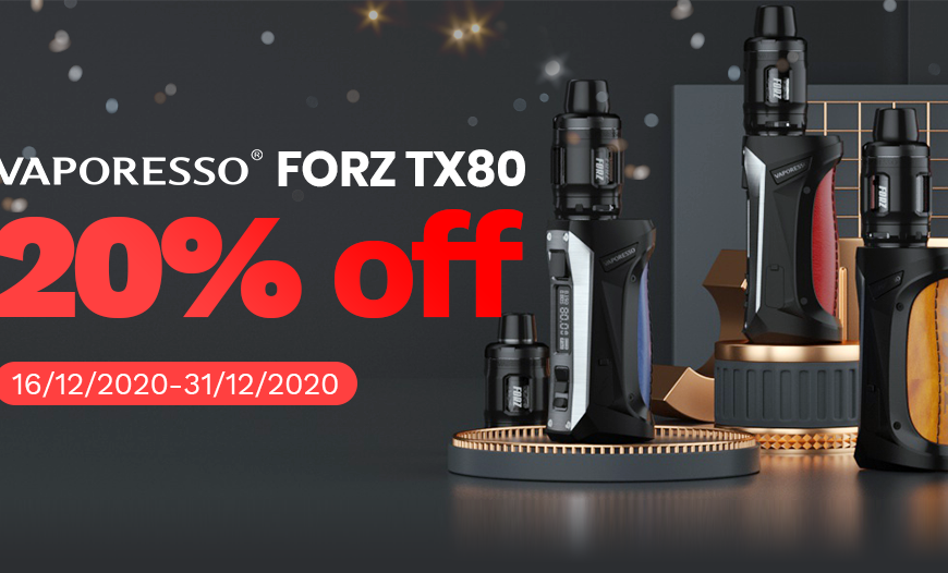 Vaporesso FORZ TX80 Christmas Sale | Vaperz Cloud Sceptre Tube Mod & More @ BKS!!