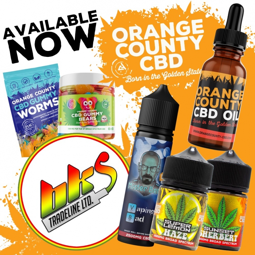 NEW @ BKS!! Orange County CBD - Fantastic Quality CBD E-Liquids, Oral Drops & Gummies in stock now!