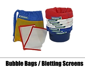 Bubble Bags, Blotting Screens & Accessories