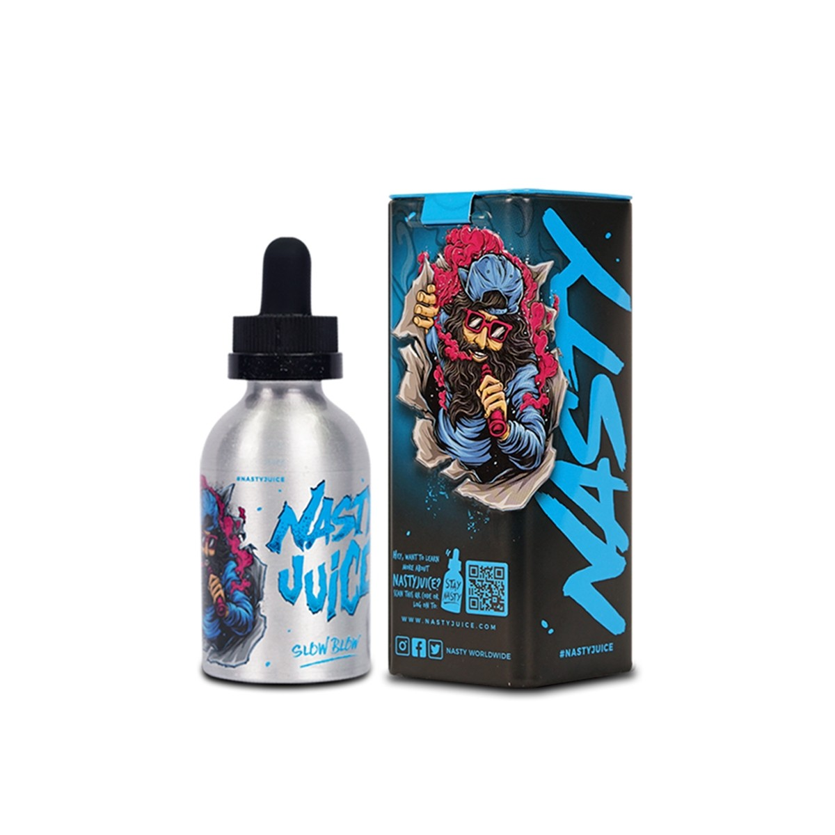 Nasty Juice - Slow Blow - 50ml Shortfill - ZERO Nicotine -