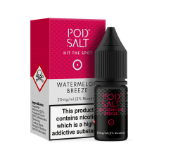 Pod Salts | Core Range | Watermelon Breeze | 10ml Single | 11mg / 20mg Nicotine Salt