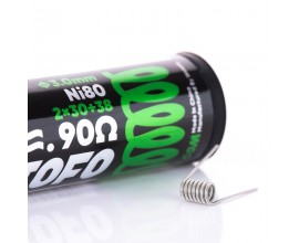 Wotofo | Pre-Built Coils | 0.90 Ohm Dual Core Fused Clapton | Pack of 10