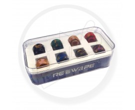 810 Resin Drip Tip Kit - Flaked Effect - Shorty Style - Pack of 8