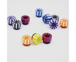 810 Resin Drip Tips - Candy Stripe Effect