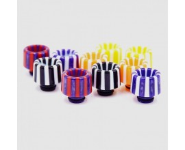 510 Resin Drip Tips - Candy Stripe Effect