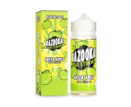Bazooka! Sour Straws | Green Apple | 100ml Shortfill | 0mg