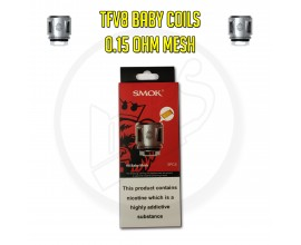 SMOK | TFV8 Baby Coils | 0.15 Ohm Mesh | Pack of 5