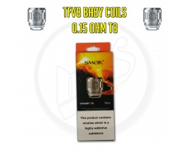 SMOK | TFV8 Baby Coils | 0.15 Ohm T8 | Pack of 5