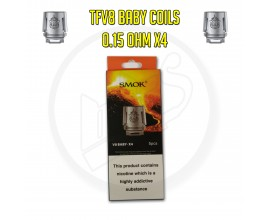 Smok TFV8 Baby Coils - 0.15 Ohm X4 (Pack of 5)