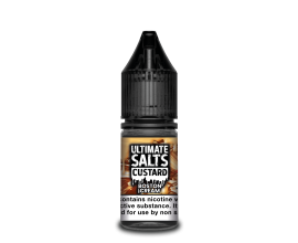 Ultimate Salts Custard | Boston Cream | 10ml Single | 10mg / 20mg Nicotine Salt