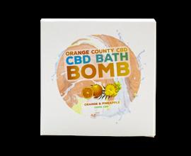 Orange County CBD | CBD Bath Bomb | Orange & Pineapple | 150mg CBD | 1 x Single