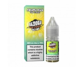 Bazooka! Sour Straws Nicotine Salts | Pineapple Peach | 10ml Single | 10mg / 20mg Nic Salt