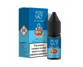 Pod Salts | Fusions Range | Candy Rush - Bubble Blue | 10ml Single | 20mg Nicotine Salt