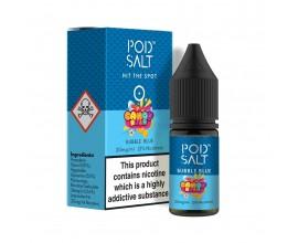Pod Salts | Fusions Range | Candy Rush - Bubble Blue | 10ml Single | 11mg / 20mg Nicotine Salt