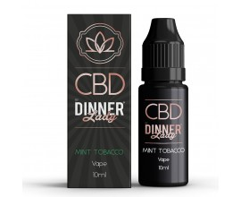 CBD Dinner Lady - 10ml E-Liquid - MINT TOBACCO **OUT OF DATE**