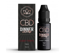 CBD Dinner Lady - 10ml E-Liquid - SWEET FRUITS **OUT OF DATE**