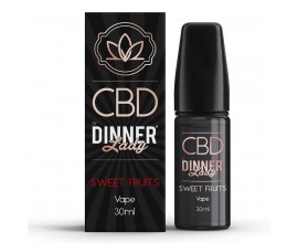CBD Dinner Lady - 30ml E-Liquid - SWEET FRUITS **OUT OF DATE**