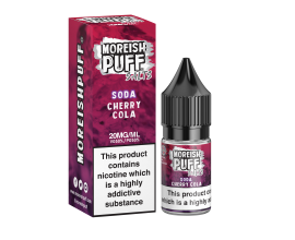Moreish Puff Salts | Soda | Cherry Cola | 10ml Single | 10mg / 20mg Nicotine Salts