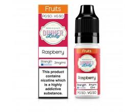 Dinner Lady 50/50 Range | Fruits | Raspberry | 10ml Single | Various Nicotine Strengths
