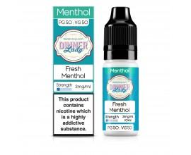 Dinner Lady 50/50 Range | Menthol | Fresh Menthol | 10ml Single | Various Nicotine Strengths