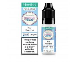 Dinner Lady 50/50 Range | Menthol | Ice Menthol | 10ml Single | Various Nicotine Strengths