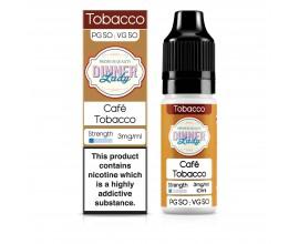 Dinner Lady 50/50 Range | Tobacco | Café Tobacco | 10ml Single | Various Nicotine Strengths