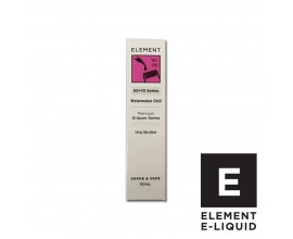 Elements E-Liquid - Watermelon Chill - 50ml Shortfill - ZERO Nicotine