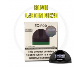 Innokin | EQ Replacement 2ml Pod | 0.48 Ohm Plex 3D Mesh Coil | 1 x Single