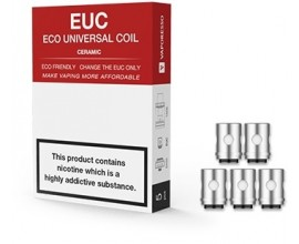 Vaporesso | EUC Eco Universal Coils | Pack of 5 | 0.3 Ohm Ceramic