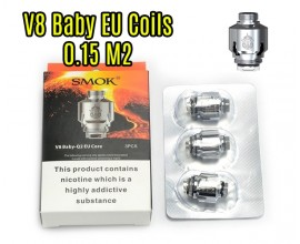 SMOK | TFV8 Baby EU Core Coils | 0.15 Ohm M2 | Pack of 3