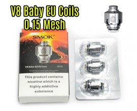 SMOK - TFV8 Baby EU Core - 0.15 Ohm Mesh - Pack of 3