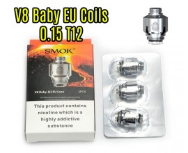 SMOK - TFV8 Baby EU Core - 0.15 Ohm T12 - Pack of 3