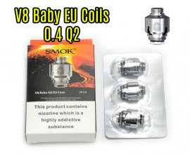 SMOK - TFV8 Baby EU Core - 0.4 Ohm Q2 - Pack of 3