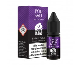 Pod Salts | Fusions Range | Evil Cloud - Summer Syrup | 10ml Single | 20mg Nicotine Salt
