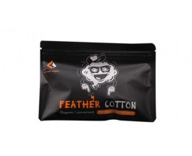 Geek Vape | Feather Cotton | Agleted Vape Wick | Pouch of 20 Pieces