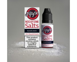 Fifty 50 E-Liquids - BLACK JACK - 18mg Nic Salts - 10ml TPD Bottles