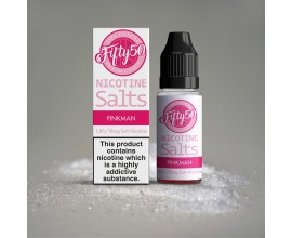 Fifty 50 E-Liquids - PINKMAN - 18mg Nic Salts - 10ml TPD Bottles
