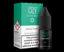 Pod Salts | Core Range | Fresh Mint | 10ml Single | 11mg / 20mg Nicotine Salt