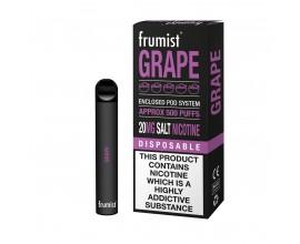 Frumist | Disposable Pod E-Cigarette Kit | 400mAh / 450-500 Puffs | 20mg Nicotine Salts | GRAPE
