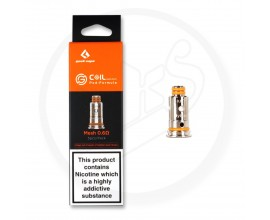 Geek Vape | G Series Coils | Designed for Aegis Pod / Wenax Kit | 0.6 Ohm Mesh KA1 | Pack of 5