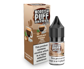 Moreish Puff Salts | Brewed | Hazelnut Vienna | 10ml Single | 10mg / 20mg Nicotine Salts
