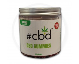 #CBD - CBD Gummies 300mg - Pot of 30 (10mg / Sweet) **NEW RECIPE**