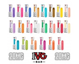 I VG | IVG Bar Disposable Pod E-Cigarette Kit | 500mAh / 600 Puffs | 20mg Nicotine Salts | Various Flavours | **NEW FLAVOURS**