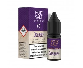 Pod Salts | Fusions Range | Jammin - Blueberry Jam Tart | 10ml Single | 20mg Nicotine Salt