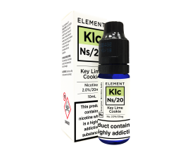 Element E-Liquids Designer Nicotine Salts | Key Lime Cookie | 10ml Single | 10mg / 20mg Nicotine Salt